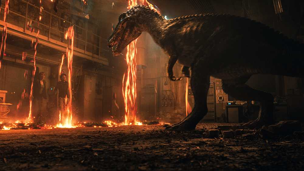 Kan lava stoppa en dinosaurie?