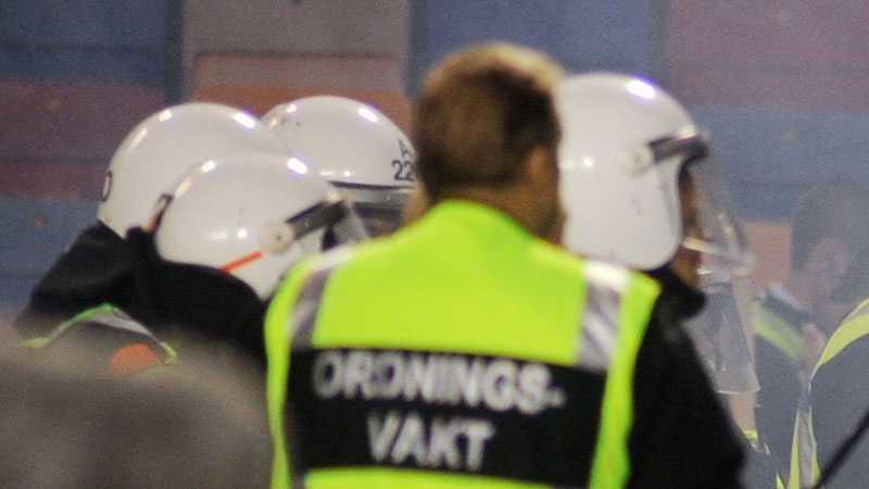 Polis fick skydda Rosenborgsfans efter matchen mot AIK. Bilden är taget vid ett annat tillfälle.