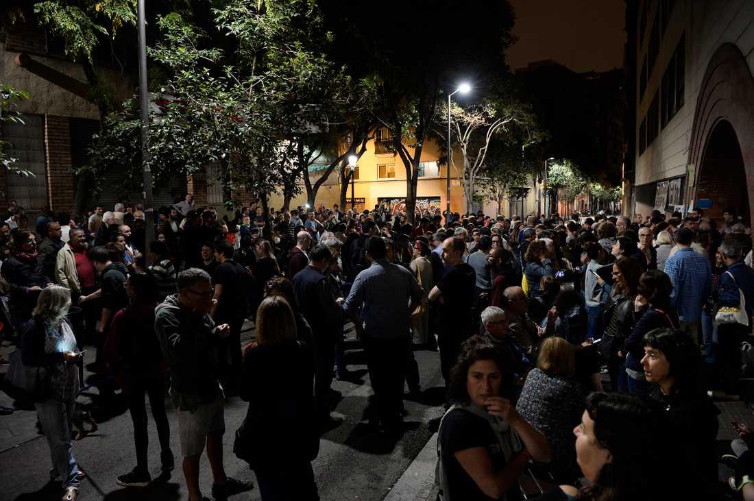 Katalaner har samlats för att rösta.