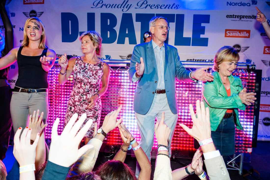 På DJ Battle brukar partiledare och ministrar festa loss. Här från 2014.