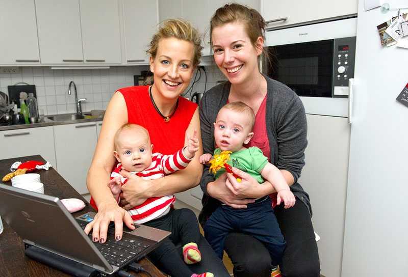 Nyblivna mammorna Sofia och Therese vill utmana bilden av mödrar som glammiga, rosenkindade cupcakes-bakande.