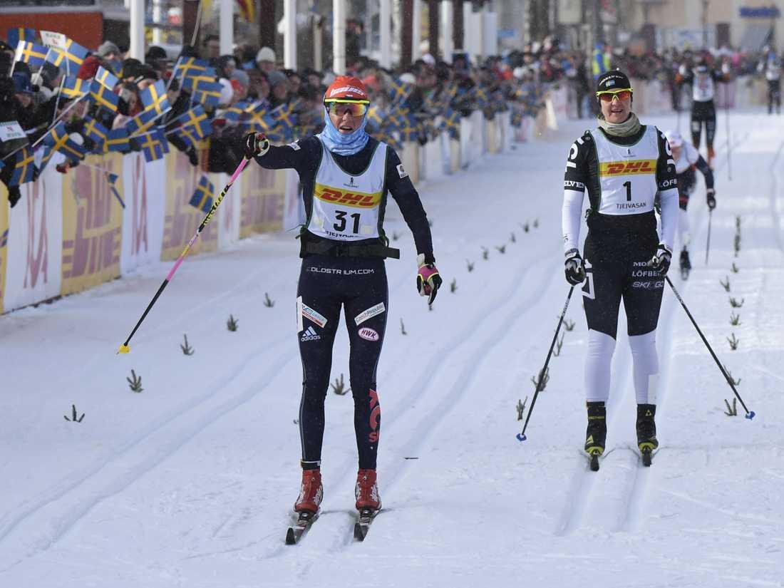 Katerina Smutna, Tjeckien, vann Tjejvasan tätt följd av Britta Johansson Norgren.