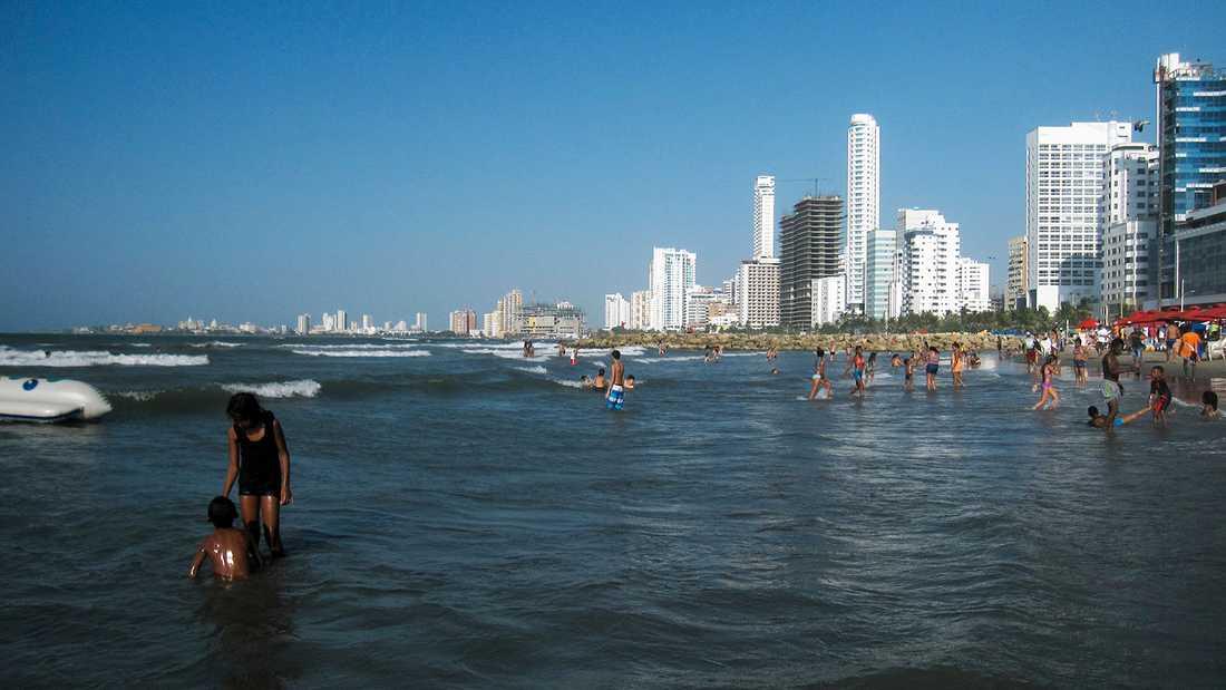 Sjödramat ägde rum utanför staden Cartagena, på Colombias karibiska kust.