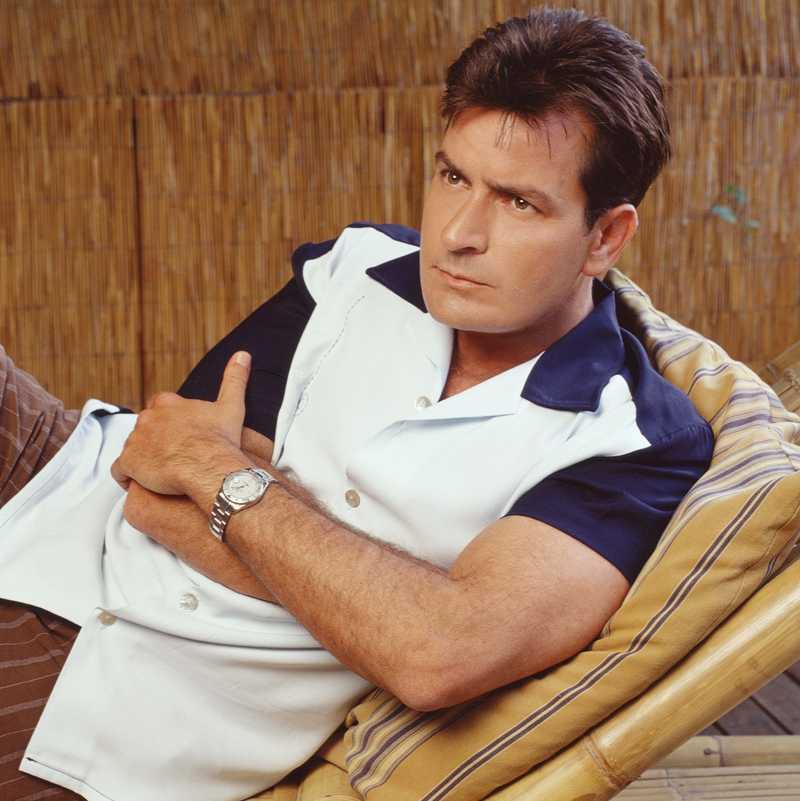 """Sheen i """"2 och 1/2 män""""."""