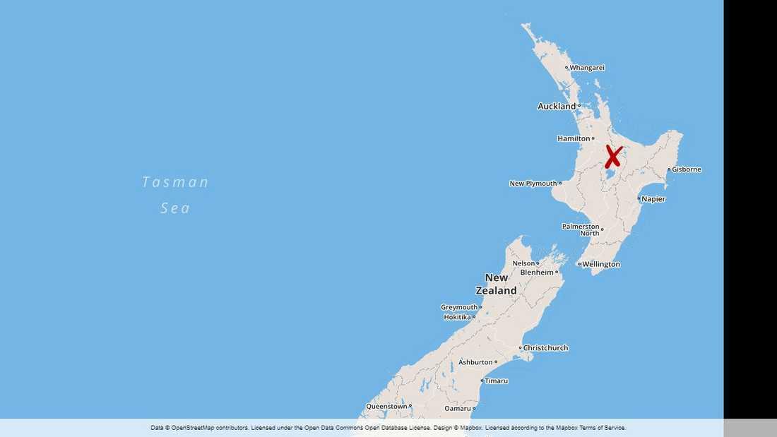 Rotorua, där olyckan inträffade, ligger på Nordön i Nya Zeeland.