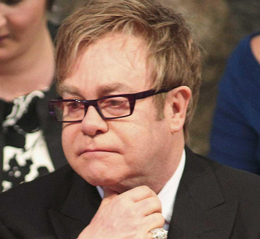 Sir Elton John var på plats.