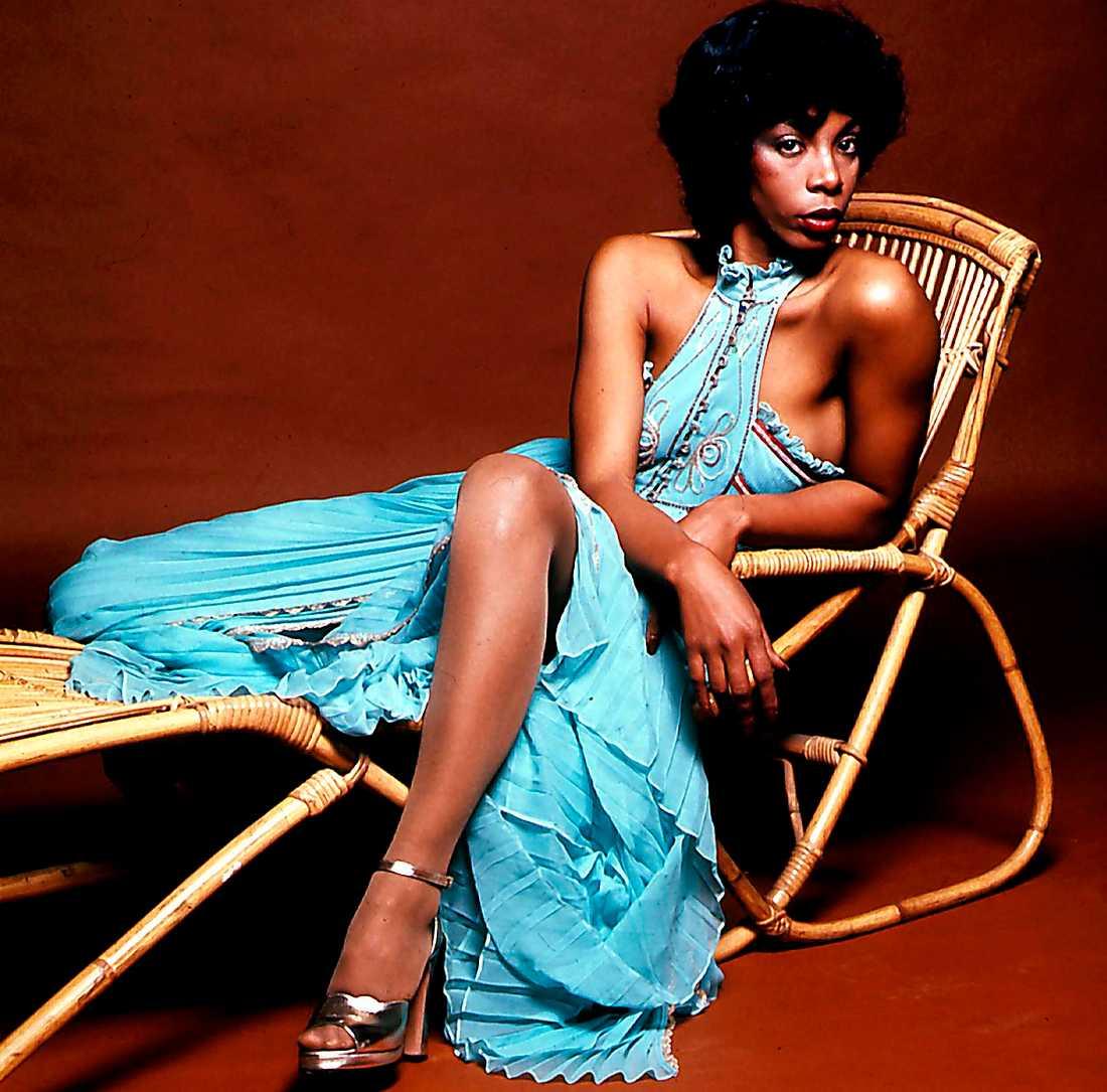 "Donna Summer 1977. Två år tidigare hade superhiten ""Love to love you baby"" kommit."