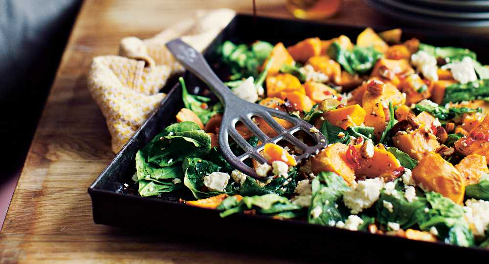 Jills sötpotatis med chili och spenat går lätt att variera.