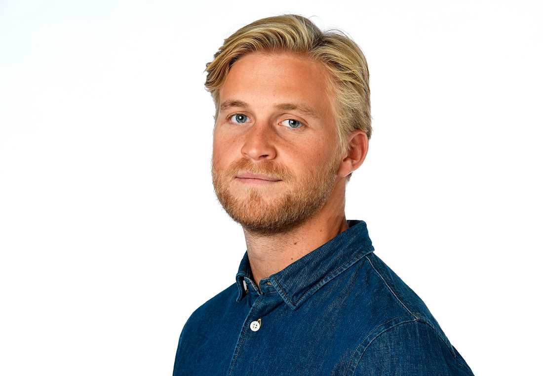 Mikael Sjöstrand, meteorolog på vädertjänsten Klart.