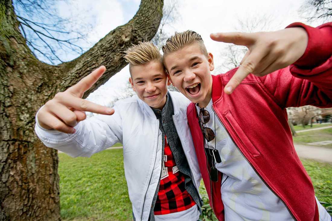 Bröderna Marcus och Martinus Gunnarsen.