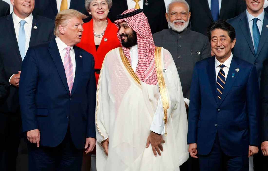 USA:s president Donald Trump och Saudiarabiens kronprins Mohammed bin Salman.