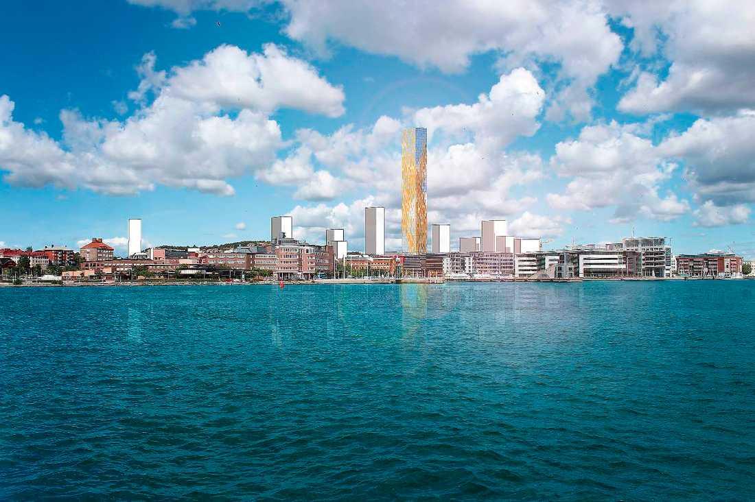God marginal Med sina 201 meter är det tänkt att Karlavagnstornet ska bli högst i Sverige. I dag är det Malmö som ståtar högst med sitt 190 meter höga Turning Torso.