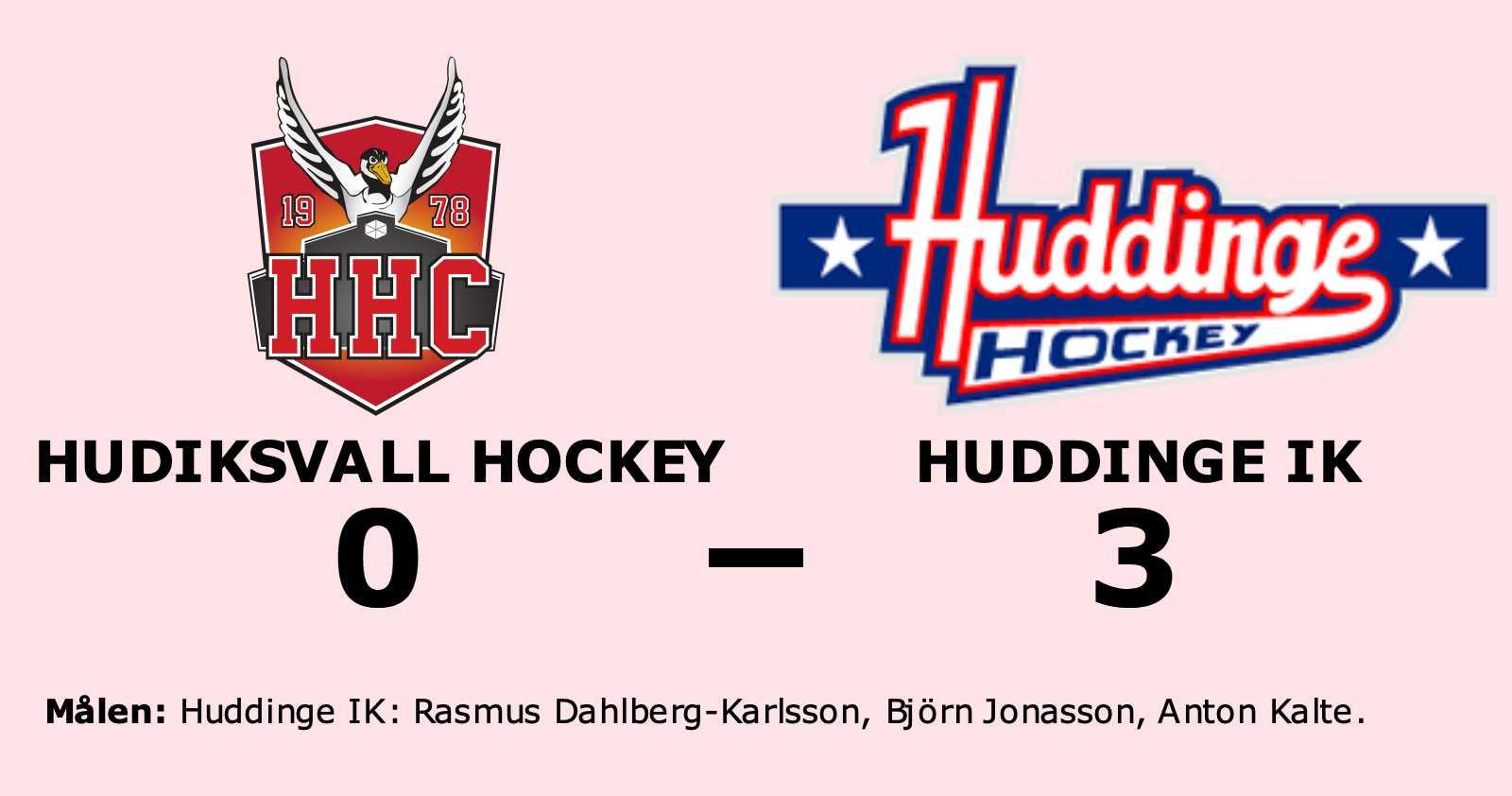 Stark seger för Huddinge IK i toppmatchen mot Hudiksvall Hockey
