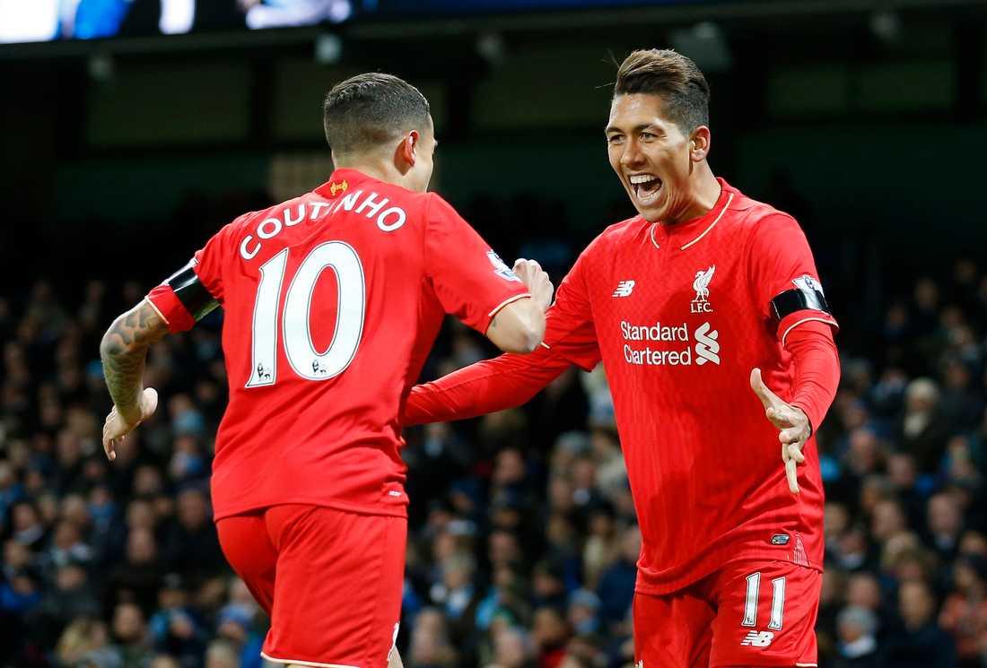 Liverpool tog ledningen efter självmål av Eliaquim Mangala.