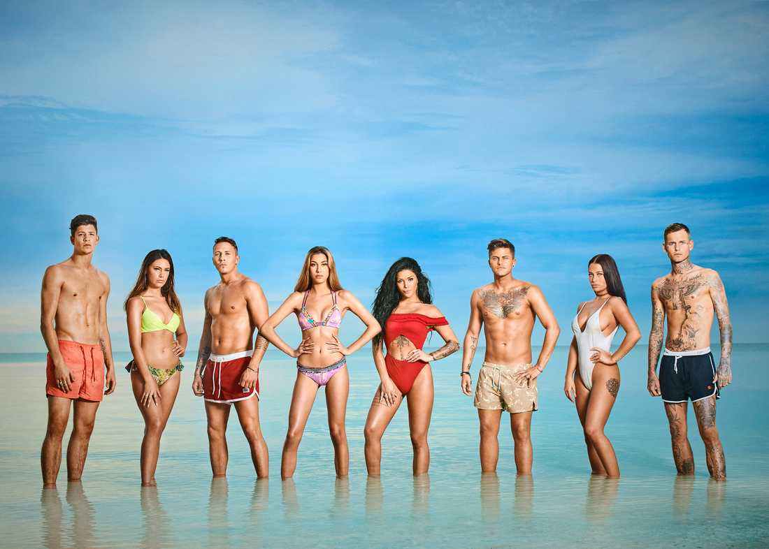 """Här är deltagarna i """"Ex on the beach""""."""