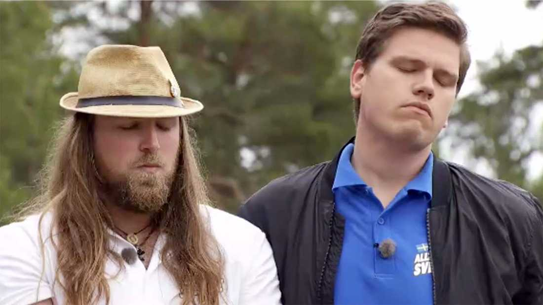 """Jack Waters och Dylan Ratell tvingades lämna """"Allt för Sverige""""."""