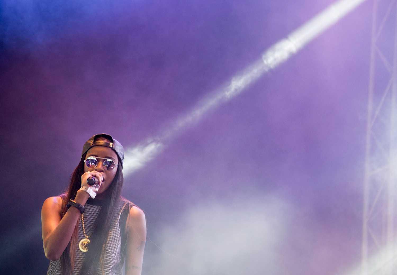 Angel Haze kommer till Uddevalla i sommar. Så här såg det ut när hon spelade på Way Out West i Göteborg 2013.