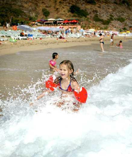Alanya i Turkiet är poppis hos barnfamiljer.