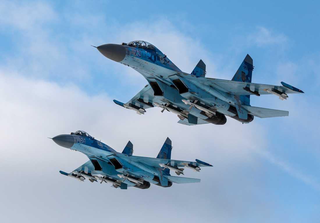 Det ryska stridsflygplanet SU-27 skickades upp för att möta planen. Bilden är från ett annat tillfälle.