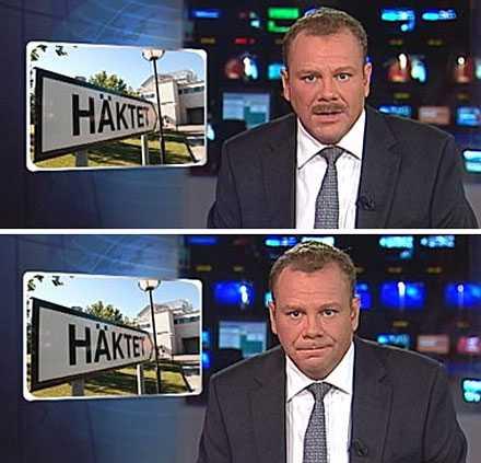FÖRE - OCH EFTER SVT:s nyhetsankare Rikard Palm rakade av sig mustaschen mellan Rarpports 18-sändning och 19.30-sändningen.