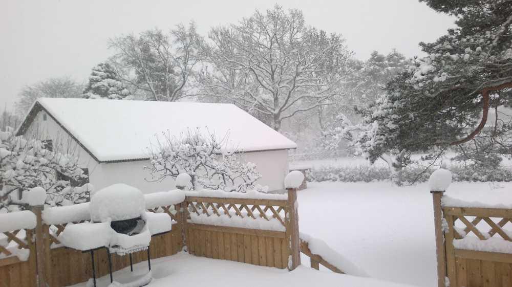 Snö på Gotland.