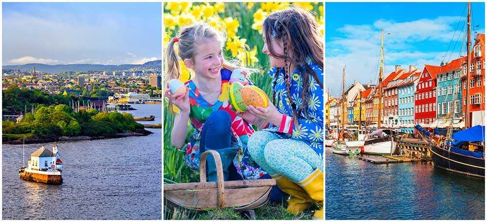 Upptäck nya spännande påsktraditioner i Norge i Danmark.