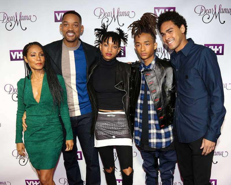 Familjen Smith - Jada, Will, Willow, Jaden och Trey.
