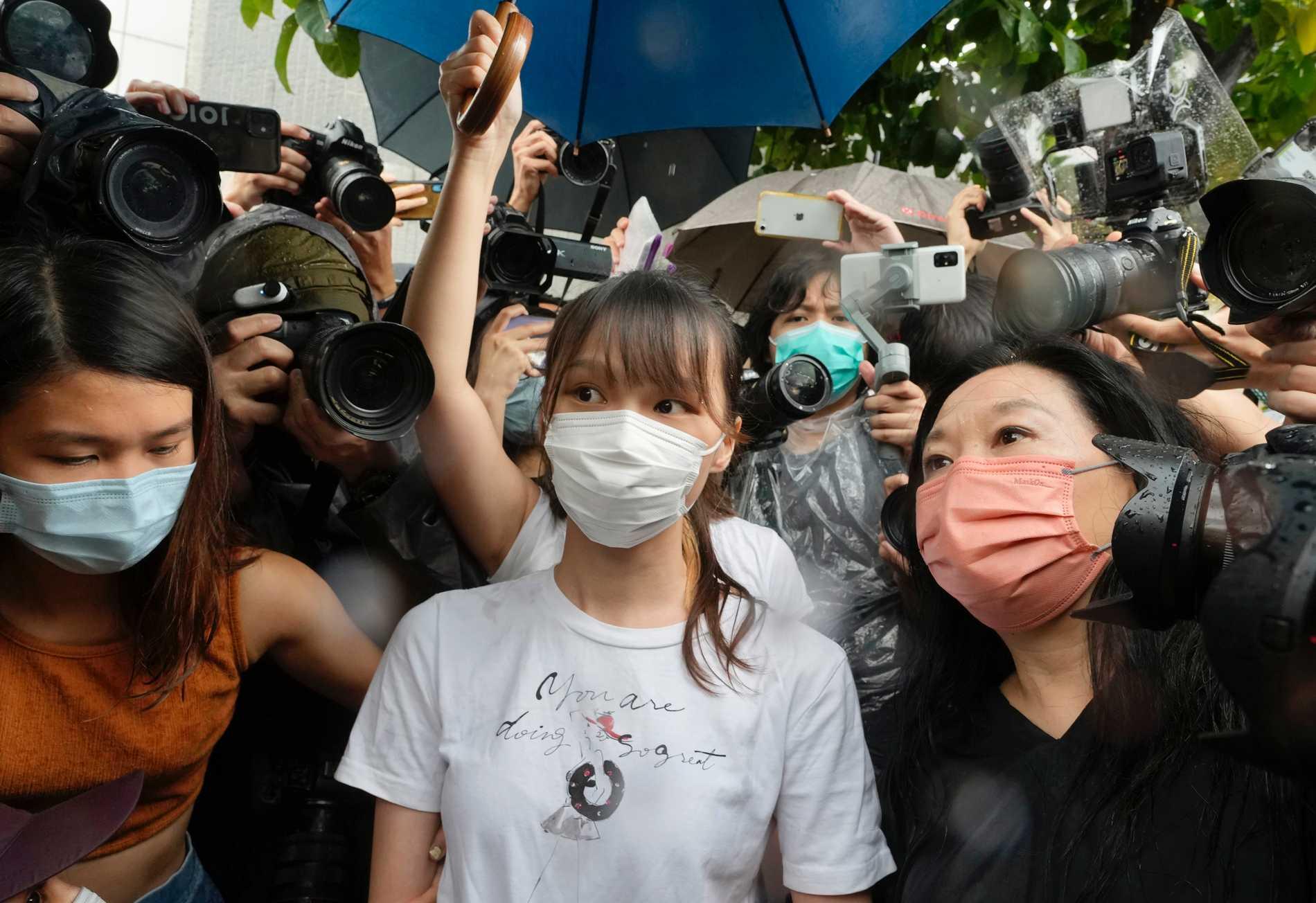 Demokratiaktivist i Hongkong har släppts fri