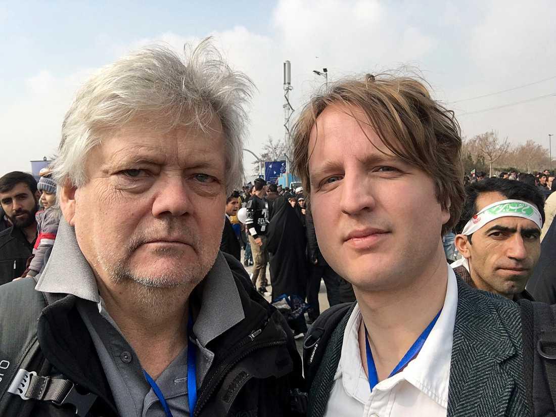 Aftonbladets Urban Andersson och Olof Svensson på plats i Iran.