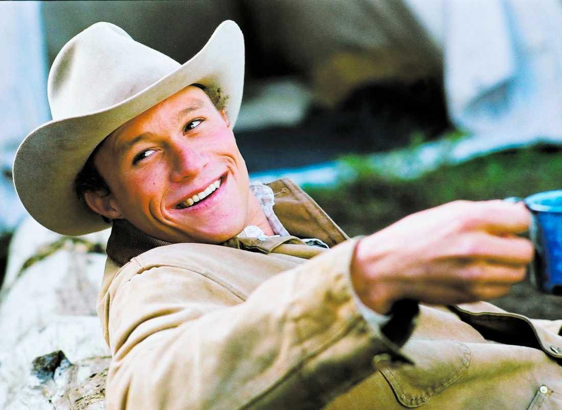 """succérollen Heath Ledger fick sitt stora genombrott som homosexuell cowboy i """"Brokeback mountain"""" – en roll som han också Oscarsnominerades för. I natt svensk tid dog skådespelaren."""