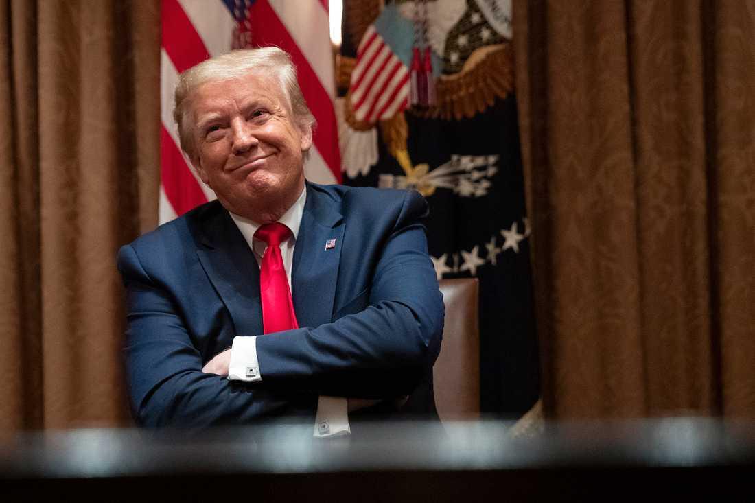 USA:s president Donald Trump i Vita huset.