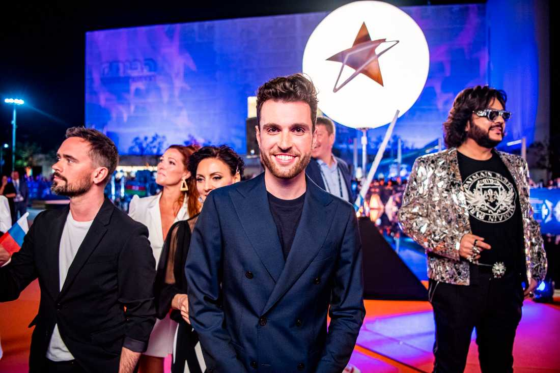 Duncan Laurence på Eurovisions invigning