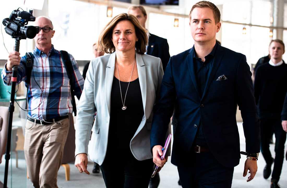 Miljöpartiets språkrör Isabella Lövin och Gustav Fridolin.