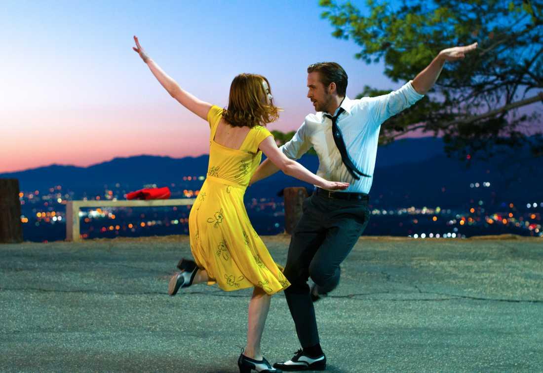 """""""La la land"""" med Emma Stone och Ryan Gosling i huvudrollerna."""