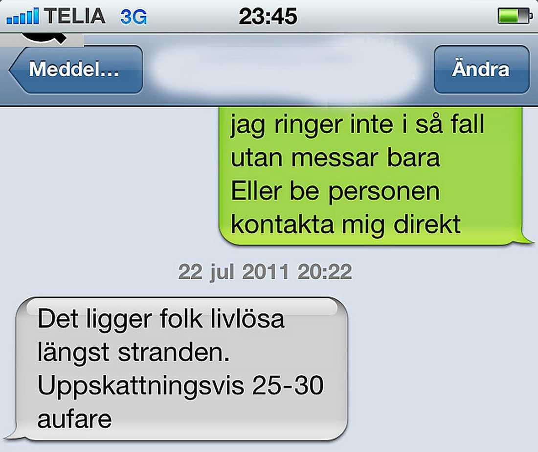 SMS från ön.