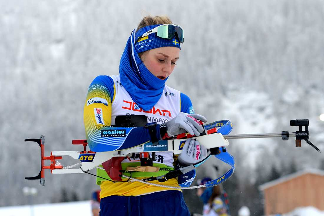 Stina Nilsson saknas i dagens lopp i skidskytte-EM