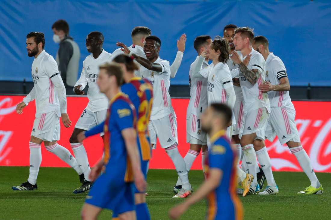 Real Madrid vann giganternas kamp mot Barça.