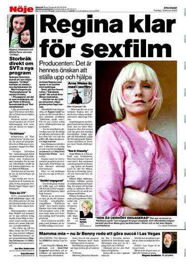 Aftonbladet 13 februari. Den nya versionen där Regina Lund har huvudrollen görs i två versioner. En för biografer och en för skolorna.