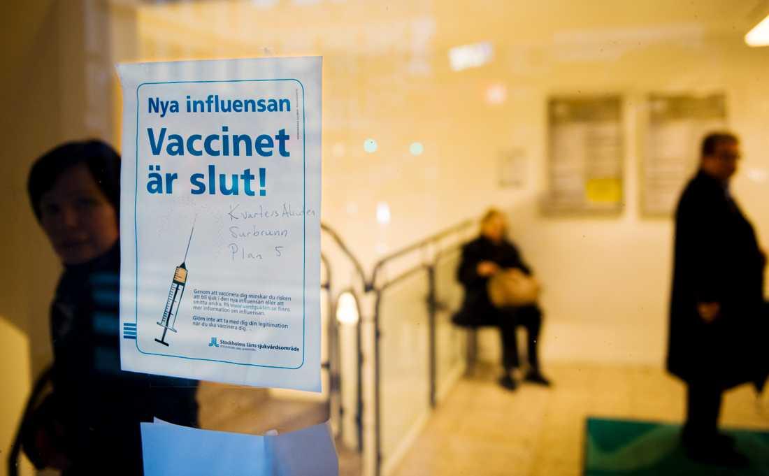 Under hösten och vintern vaccinerades totalt 5,3 miljoner svenskar. Arkivbild.