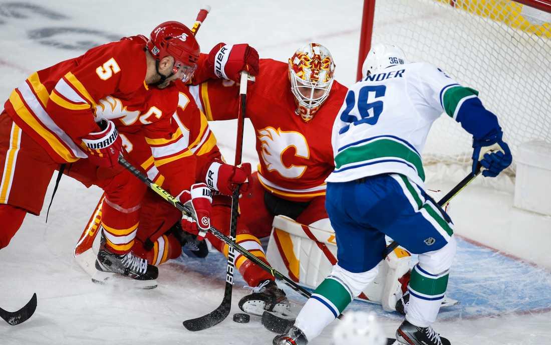 Markström höll nollan mot förra laget Vancouver.
