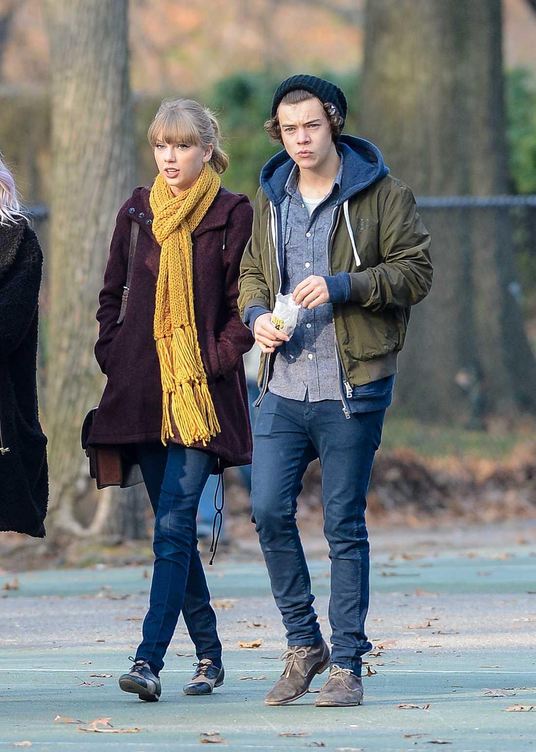 Harry Styles och Taylor Swift Promenix i Central Park är alltid trevligt.