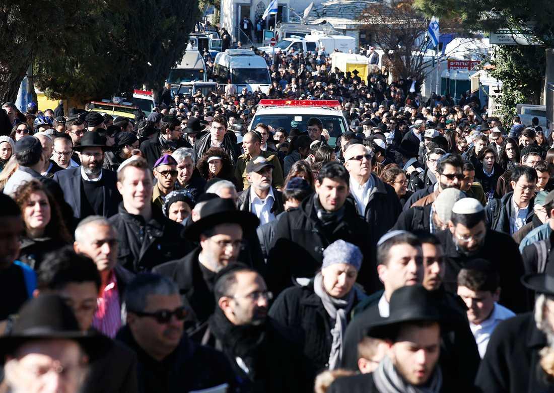 Begravning i Jerusalem.