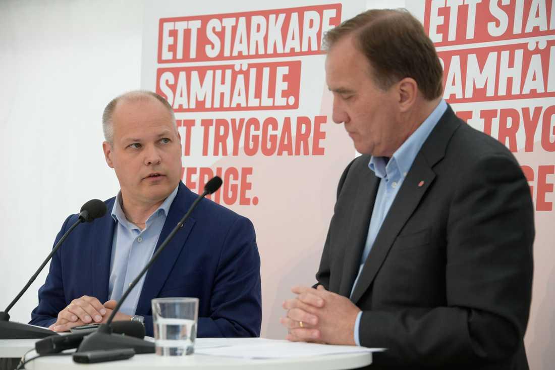 Morgan Johansson och Stefan Löfven under Järvaveckan.