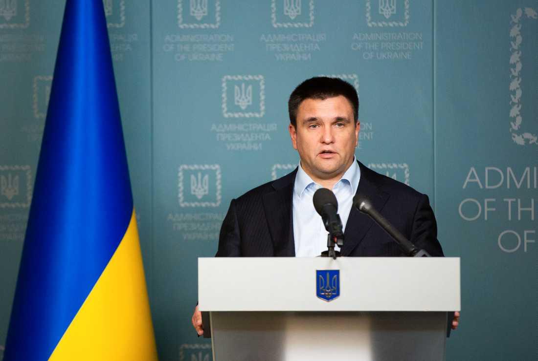 Ukrainas utrikesminister Pavlo Klimkin har också uttalat sig om händelsen.