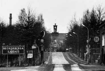 Det slottsliknande Beckomberga sjukhus hade flera tusen platser.