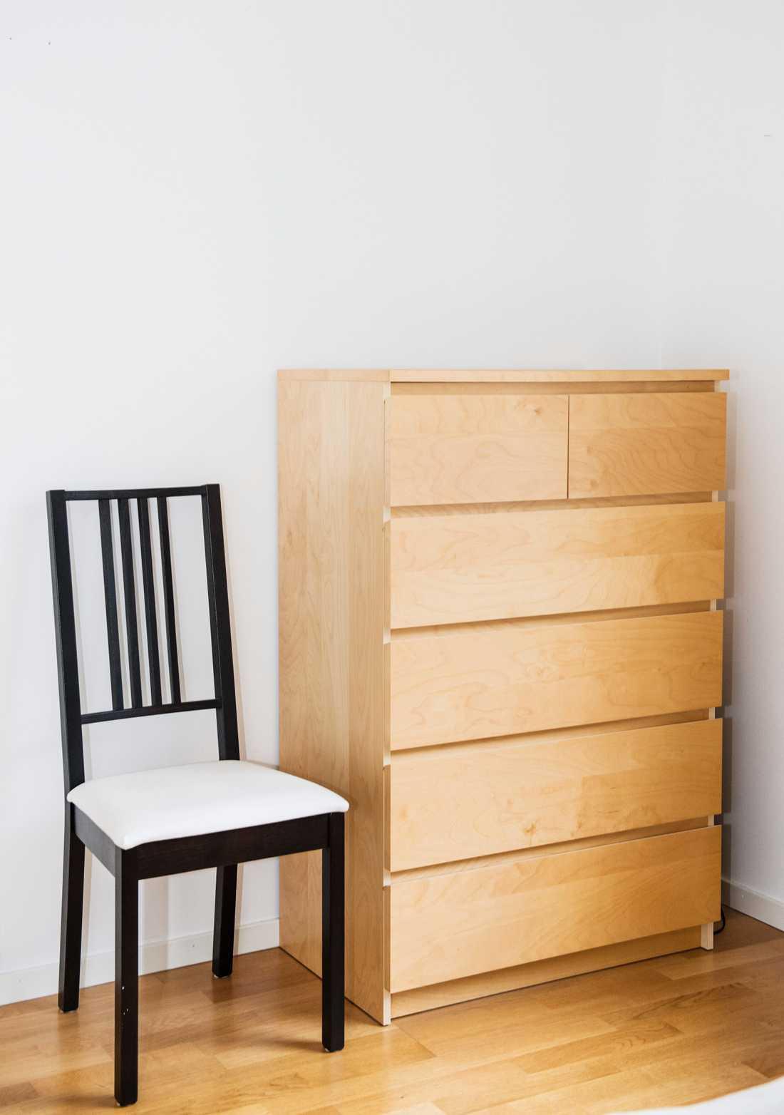 Ikea-byrån Malm som lätt vält och orsakat flera dödsfall. Arkivbild.