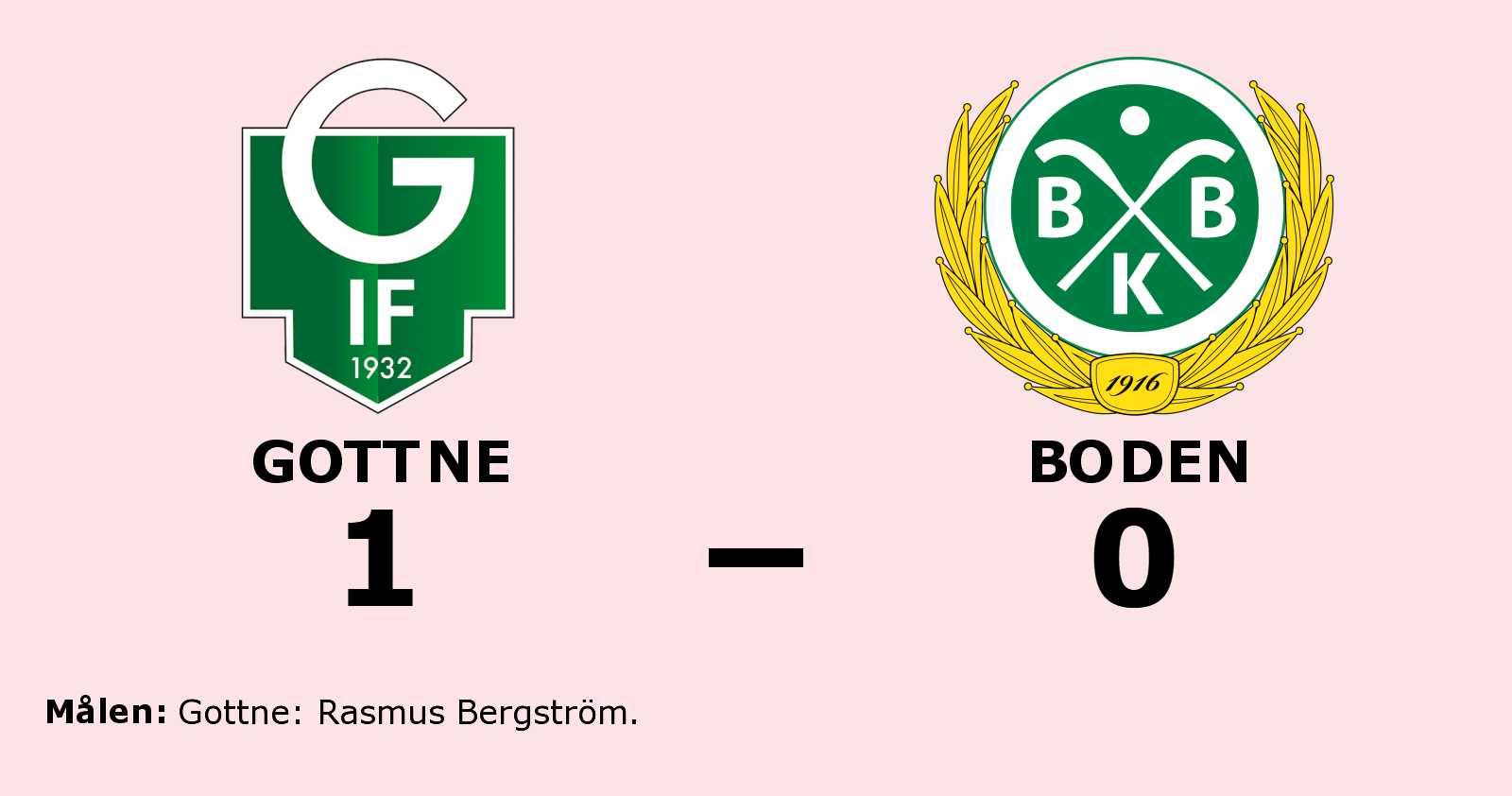 Rasmus Bergström avgjorde när Gottne sänkte Boden