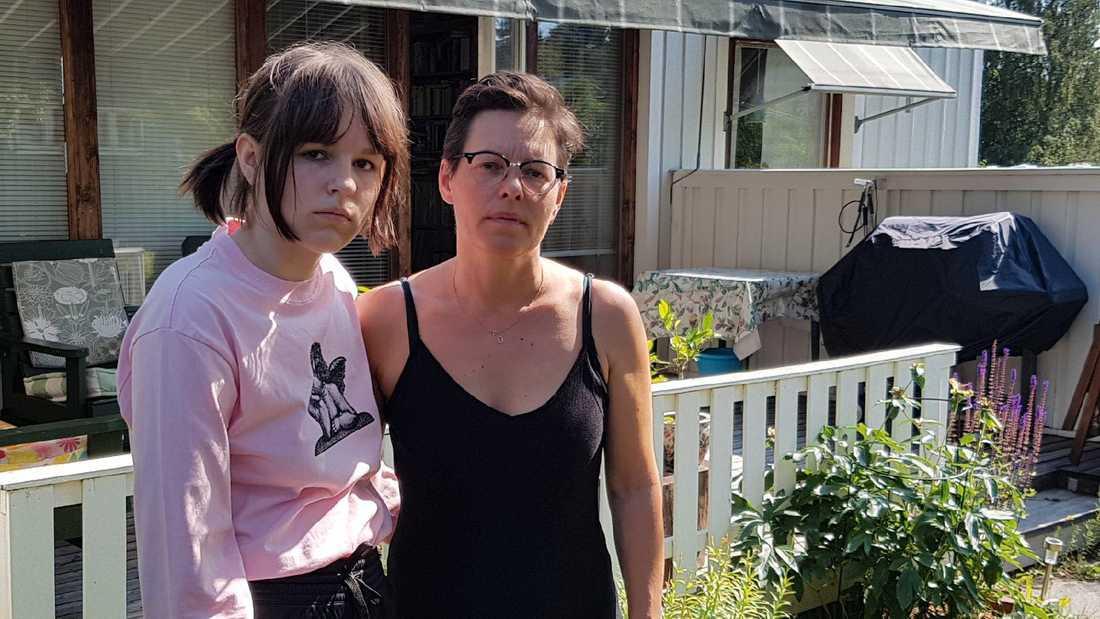 Victoria Andersson med dottern Hedvig.