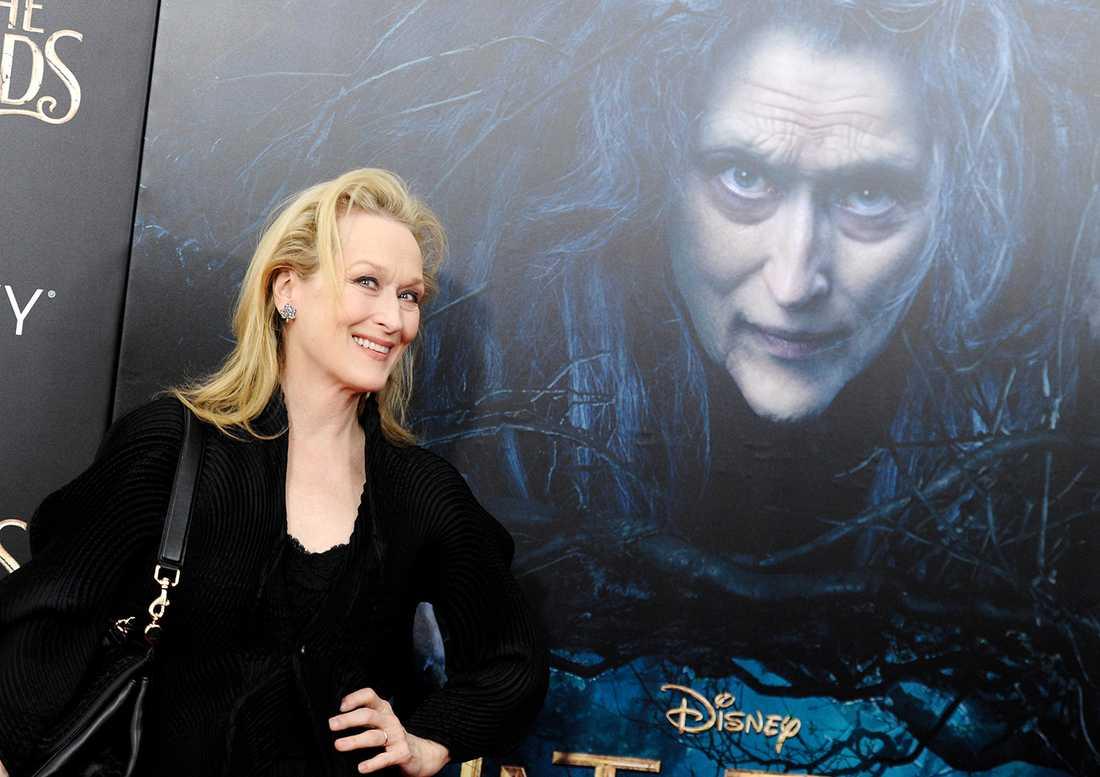 """Meryl Streep på premiären av """"Into the woods""""."""
