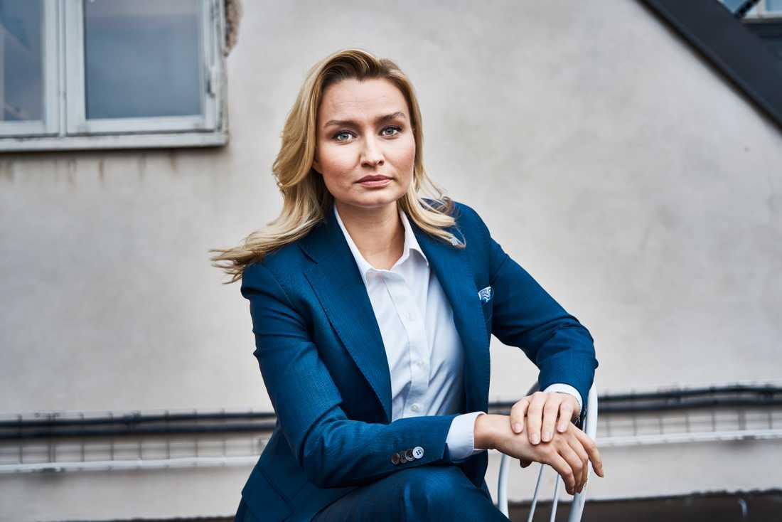 Kristdemokraternas partiledare Ebba Busch får se sitt parti tappa i opinionen å lång sikt. Arkivbild.